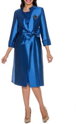 Giovanna Collection 3/4 sleeve Jacket Dress - Plus