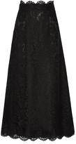 Valentino Guipure Lace Maxi Skirt - Black
