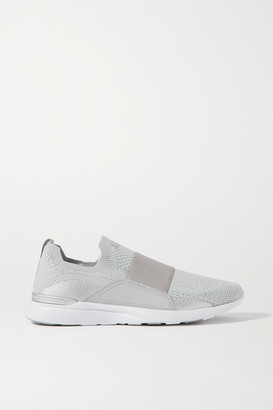 APL Athletic Propulsion Labs Techloom Bliss Mesh And Neoprene Slip-on Sneakers - Silver