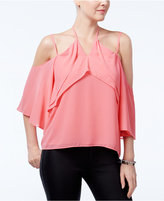 XOXO Juniors' Off-The-Shoulder Ruffled Blouse