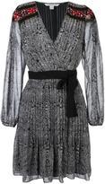 Diane von Furstenberg 'Cabriole Dot Border' dress - women - Silk/Polyester/Spandex/Elastane - 8