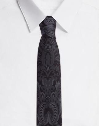 Dolce & Gabbana 6cm Silk Blade Tie With Baroque Print