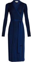 Diane von Furstenberg Striped ribbed-knit dress
