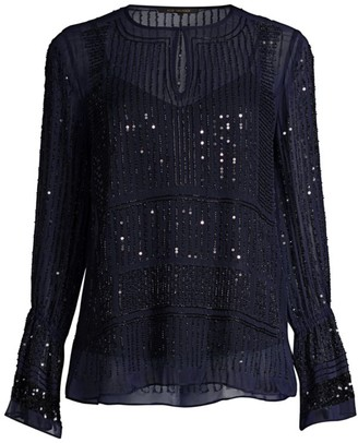 Kobi Halperin Anita Beaded Silk Blouse