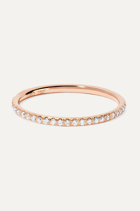 Ileana Makri Thread 18-karat Rose Gold Diamond Eternity Ring - 50
