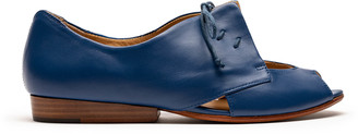 Tracey Neuls - PERRY Klein | Blue Leather Flat Shoe - 36
