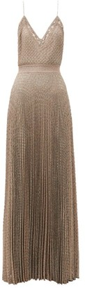 Missoni Pleated Metallic-jersey Cami Dress - Pink Multi