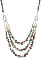 Alexis Bittar Abstract Buckle Beaded Necklace