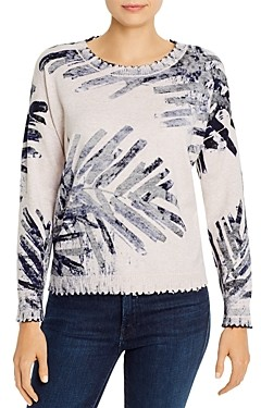 Nic+Zoe Petites Cotton Botanical Print Sweater