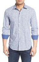 Bugatchi Men's Big & Tall Shaped Fit Geo Print Sport Shirt