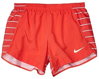 Nike Kids Sprinter Running Shorts (Little Kids/Big Kids) (Track Red/Track Red/Washed Coral) Girl's Shorts