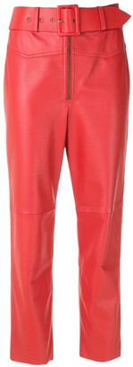 Nk Belt Leather Straight Trousers