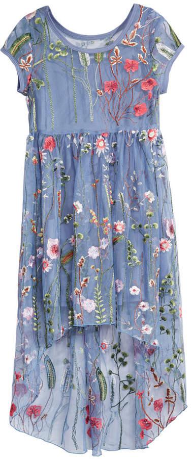 Bonnie Jean Big Girls Embroidered Layered-Look Dress