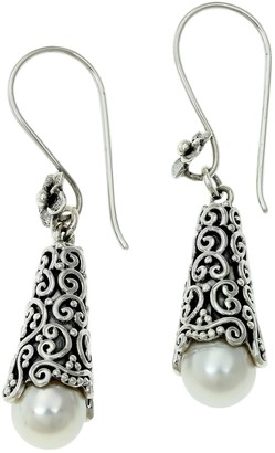 Novica Artisan Crafted Cultured Pearl Dangle Earrings
