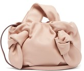 STAUD Ronnie Knotted Leather Bag - Womens - Light Pink