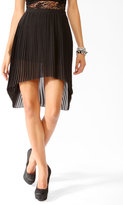 Forever 21 Accordion Pleated High-Low Skirt