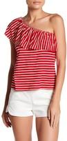 Bobeau One Shoulder Popover Shirt (Petite)