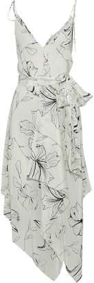 Diane von Furstenberg Asymmetric Floral-print Silk Midi Dress