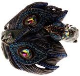 Betsey Johnson Rhinestone Peacock Bangle Bracelet
