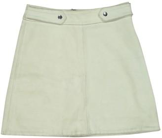 Ganni Green Suede Skirt for Women