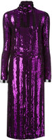 Nina Ricci sequinned fitted dress - women - Silk - 36