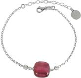 Antica Murrina Veneziana Florinda Ruby Murano Glass Sterling Silver Bracelet