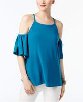 INC International Concepts Cold-Shoulder Flutter-Sleeve Blouse, Created for Macy's