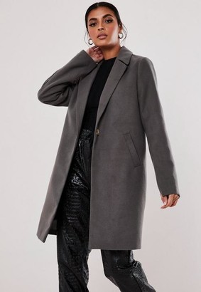 Missguided Grey Ultimate Formal Coat