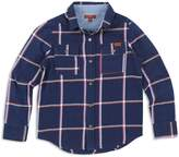 7 For All Mankind Boys' Plaid Denim Shirt