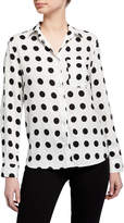 Velvet Heart Elisa Polka Dot Shirttail Top