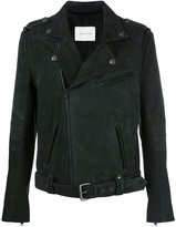 Pierre Balmain zipped biker jacket - men - Viscose/Goat Suede - 50