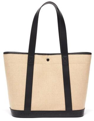A.P.C. Helene Leather-trim Canvas Tote Bag - Black Multi