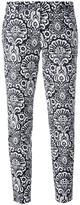 MICHAEL Michael Kors arabesque print cropped trousers - women - Cotton/Spandex/Elastane - 0