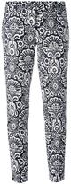 MICHAEL Michael Kors arabesque print cropped trousers - women - Cotton/Spandex/Elastane - 4