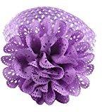 TRENDINAO Lovely Baby Infants Girls Chiffon Lace Dress Up Head band Hairband (Purple)