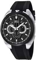 Lotus Men's Quartz Watch with Black Dial Chronograph Display and Black Rubber Strap 10128/2