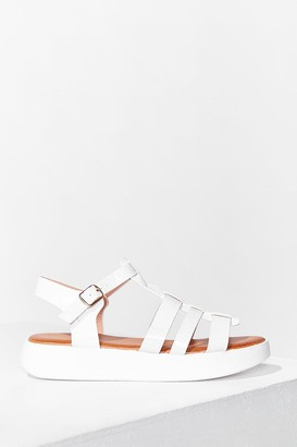 Nasty Gal Womens Caught Up Cage Platfrom Sandals - White