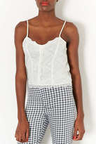 Topshop Button Front Lace Cami