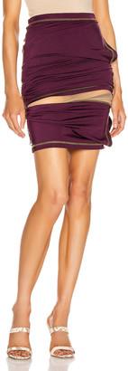 Y/Project Asymmetric Layered Skirt in Plum | FWRD