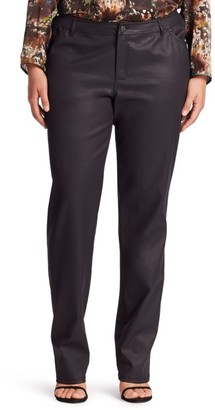 Lafayette 148 New York Lafayette 148 New York, Plus Size Waxed Five-Pocket Jeans