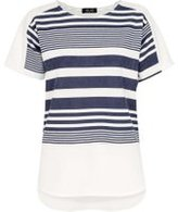 Dorothy Perkins Womens *Quiz Navy And White Striped Short Sleeve Top- Multi