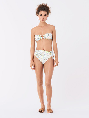 Diane von Furstenberg Luna Ring Bandeau Bikini Top