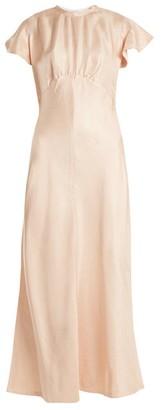 Zimmermann Painted Heart High-neck Dress - Womens - Pink