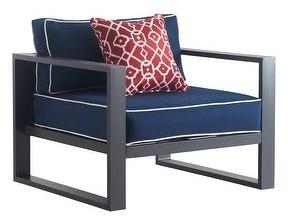 "Tommy Hilfiger Monterey Outdoor 36"" Arm Chair, Gray Gunmetal"