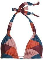Vix Paula Hermanny Vix Paulahermanny Ruched Printed Triangle Bikini Top
