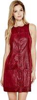 GUESS Women's Tamara Faux-Leather Dress