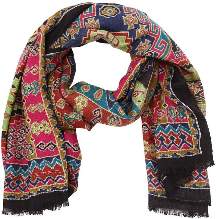 Etro Ethnic Cashmere & Silk Scarf