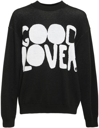 Valentino Good Lovers Jacquard Wool Sweater