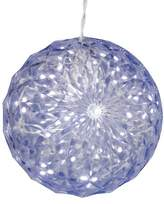 "Vickerman 6"" LED Lit White Crystal Ball"