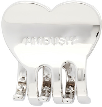 Ambush Silver Heart Hair Clip